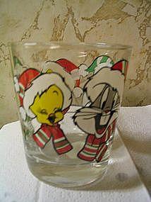 Looney Tunes Christmas Glass