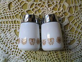 Corelle Butterfly Gold Salt & Pepper Shakers