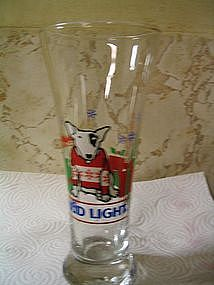 Spuds MacKenzie Christmas Glass