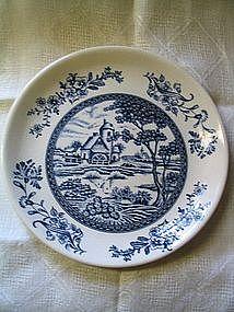 Blue Flow Farm Scene Plate