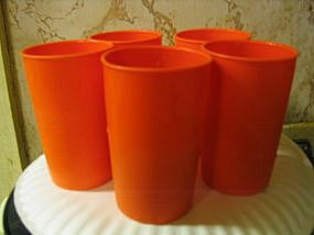 Orange Tupperware Juice Glasses