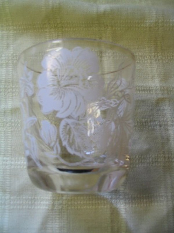 White Flowers Glass