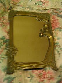 Brass Figural Mirror