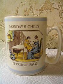 Pfaltzgraff Monday's Child Mug