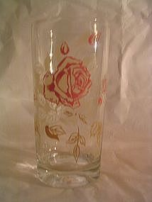 Pink Rose Glass