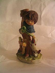 Enesco Little Boy and Dog Figurine