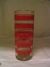 Libbey Red Bands Glass