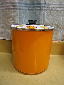 Orange Enamel Canister