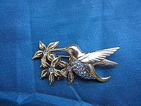 Swarovski Hummingbird Brooch