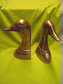 Brass Duck Bookends