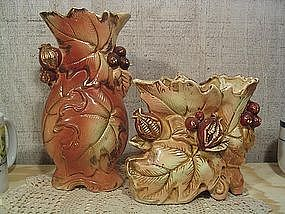 Golden Acorn Vases