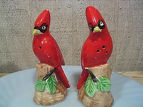 Red Bird Salt & Pepper Shakers