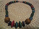 Vintage Wooden Bead Neckage