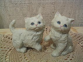 White Kitten Figurines