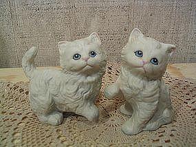 White Kitten Figurines