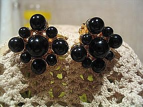 Napier Black Bead Earrings