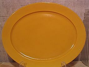 Hazel Atlas Yellow Platter