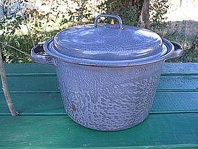 Gray Enamel Pot