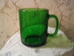 Green Glass Mug