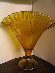 Amber Fan Vase