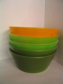 Fire King Green Cereal Bowls