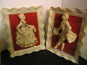 Colonial Couple Wall Hangings