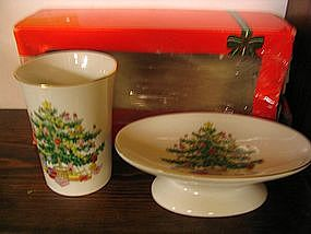Vintage Christmas Bath Set