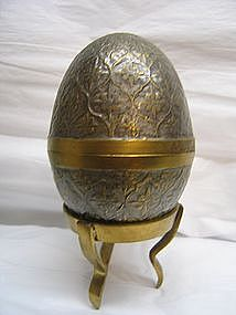 Enameled Brass Egg Box