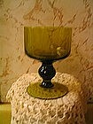 Green Glass Goblet