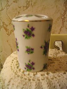 Lefton Violets Toothbrush Holder