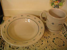 Longaberger Woven Green Bowl