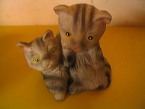 Gray Kittens Figurine