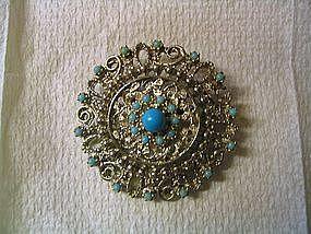 Turquoise Bead Pin