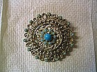 Turquoise Bead Pin