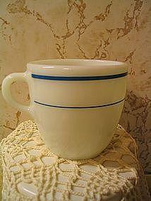 Pyrex Turquoise Band Mug