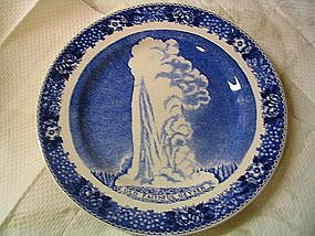 Old English Staffordshire Ware Yellowstone Park