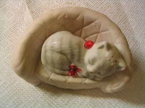 Kitten on Chair Figurine