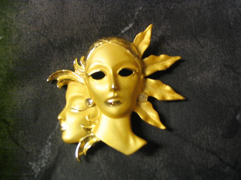 Mask Brooch