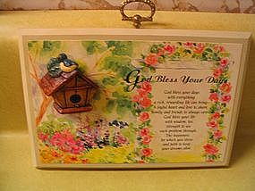 Keepsake Plaque by Paula