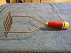 Red Handle Potato Masher