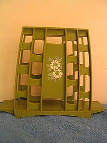 Vintage Avocado Green Napkin Holder