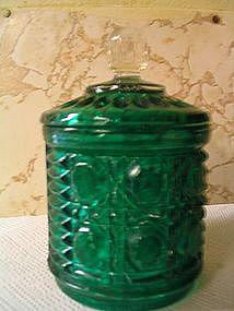Federal Windsor Green Sugar Dish