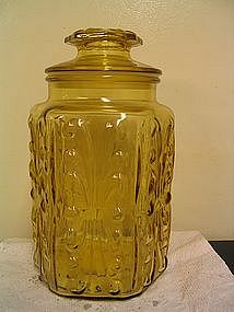 Yellow Glass Canister
