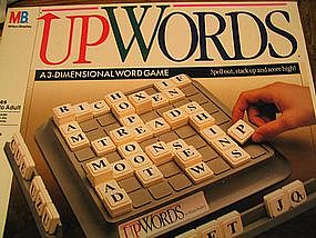 Milton Bradley Up Words Game UNAVAILABLE