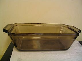 Amber  Anchor Hocking Loaf Pan