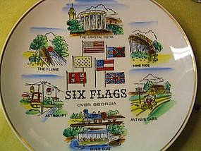 Six Flags Over Georgia Plate