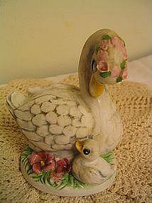 Vintage Swan & Baby Figurine