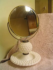 Milk Glass Mirror