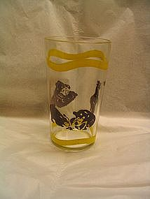 Vintage Bear Cub Glass