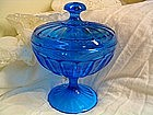 Vintage Blue Candy Dish